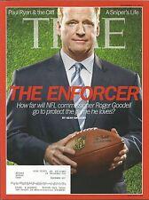 DECEMBER 17, 2012 TIME MAGAZINE NFL COMMISSIONER ROGER GOODELL FOOTBALL PROBLEMS