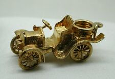 Heavy Large 9ct Solid Gold Vintage Car Charm
