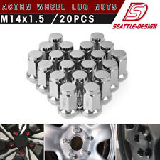(20) Chrome 14x1.5 Acorn Lug Nuts Cone Seat for Dodge Charger Challenger Durango