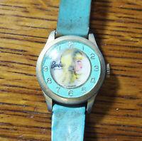 Vintage wind-up Barbie Bradley Blue Bezel Character Watch for Repair