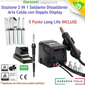 STAZIONE SALDANTE 706 PROFESSIONALE SALDATORE STAGNO MICRO PUNTA 60W 5 PUNTE ZD