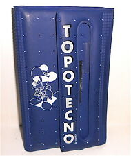 TOPOLINO Topotecno 80/90s Disney italy rubber wallet - astuccio gomma gadget