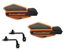 Powermadd Star Series Handguards Guards Tri Mount Orange / Black ATV Polaris