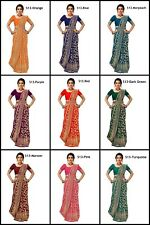 Banarasi Silk Saree Ethnic wear traditional Wedding Designer Sari With Belt NF