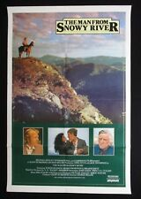 MAN FROM SNOWY RIVER 1982 Rare Australian movie poster Tom Burlinson Thornton