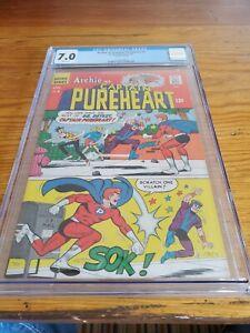 CGC 7.0 Archie As Captain Pureheart #5 Archie Pub. 1967 Silver Age Comic