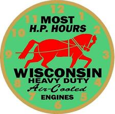 Wisconsin Heavy Duty Air Cooled Engines - Vinyl Decal Sticker - Set Of 2