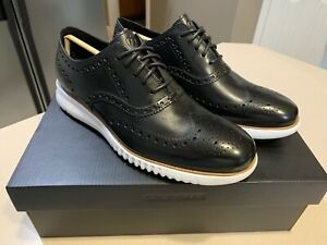 "COLE HAAN Men's ""Zerogrand"" Black Leather Wingtip Shoes Size 9.5 (NEW!)"