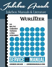 Wurlitzer X2, Baltic, Cabaret, Tarock, Lyric & Hideaway of 1976 Service Manual
