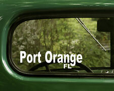 2 PORT ORANGE STICKERs Florida Decal For Car Truck Laptop Bumper Window Rv Jeep