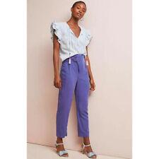 Anthropologie Purple Cupro Wrap Trouser Pants NWT Size Xlarge