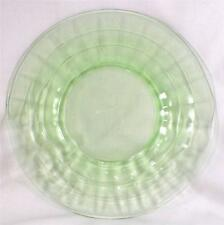 Vintage Block Optic Green Depression Glass Luncheon Plate Anchor Hocking 8 in