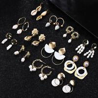12 Style Women's Natural Sea Shell Dangle Drop Earrings Gold Statement Jewelry