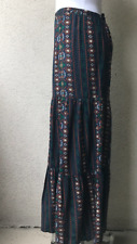 COLOR LOUNGE TIERED BLUE MULTI-COLOR PRINT MAXI SKIRT-SIZE 2X-LARGE