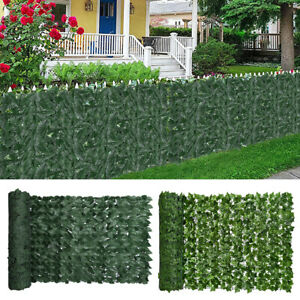 """118 x 39"""" Faux Ivy Leaf Artificial Hedge Fencing Privacy Fence Screen Decorative"""