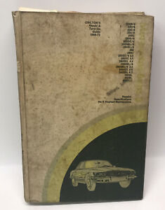 Vintage Chilton's Mercedes-Benz 1968-73 Repair and Tune-up Guide Garage Used