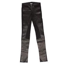 Helmut Lang Black Stretch Leather Leggings Riding Pants size 4
