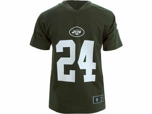 NEW YORK JETS NFL DARRELLE REVIS #24 KIDS TEAM APPAREL SHORT SLEEVE JERSEY SMALL