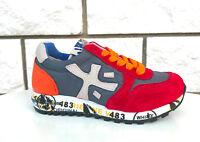 Premiata sneaker  Junior mod. Mick camoscio rosso grigio bianco l. arancio 18PJ