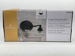 Portfolio - 2 Light Vanity Bar Fitter - Oil Rubbed Bronze Finish - Black 0156993