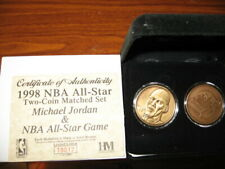 1998 Highland Mint All-Star Two-Coin Matched Set M Jordan #1/1000 Free Shipping
