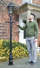 USED Ex-Display 2.3m Victorian Lamp Post + Lantern Reclaimed Garden Lighting Set