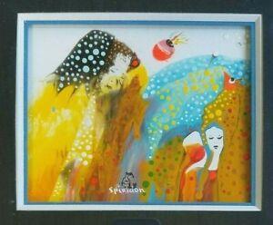 François Mitic-Spiridon (Born 1938, Yugoslavia)  Surrealist Acrylic Painting
