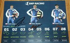 2014 SMP Racing #37 Nissan Oreca LMP2 signed COTA FIA WEC postcard