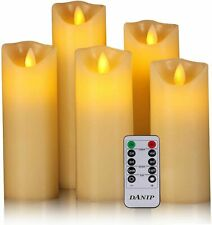 Set of 5 Flameless Candles Battery Operated Candles with Remote and Timer