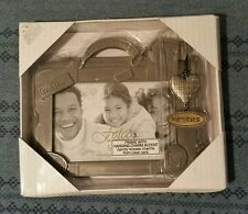 """NIB Fetco Pewter Picture Frame With Hanging Charm 3.5"""" X 5"""""""