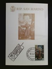 SAN MARINO MK 1967 GEMÄLDE BARBIERI MAXIMUMKARTE CARTE MAXIMUM CARD MC CM c8506