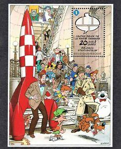 BELGIUM 2009 TINTIN ROCKET BLOC BF173 MNH** Musée Bande Dessinée Cartoon Museum