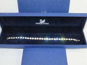 "GENUINE Swan Signed SWAROVSKI ""Tennis"" Bracelet  - #1791305"