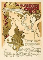 Alphonse Mucha Art Nouveau Vintage Poster Picture Print Wall Art New A4 A3 A2 A1