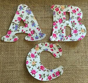 Floral Iron On Letters - LIMITED NUMBER OF LETTERS LEFT- FABRIC DISCONTINUED #3