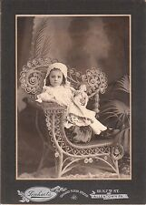 PRECIOUS LITTLE GIRL LOVINGLY HOLDS HER BISQUE DOLL - TOLEDO, OH (VINTAGE PHOTO)