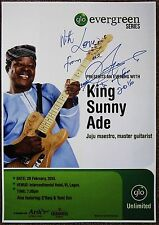 Signed KING SUNNY ADE Gig POSTER In-Person w/proof Concert Autograph