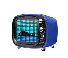Divoom Tivoo Rétro Bluetooth Lautsprecher Stereo Box Laptop USB Blau