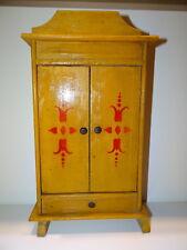 Belle armoire de poupée en bois peint des années 30/50