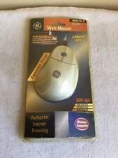 Vintage NOS General Electric Web Mouse Ergonomic Design 800 DPI H097776