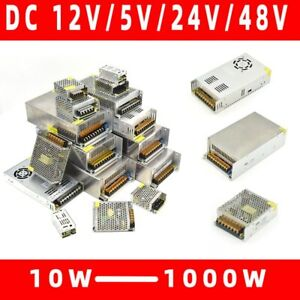 Lighting Transformers 110V 220V To DC 5V 12V 24V 48V 1~40A Power Supply Adapter
