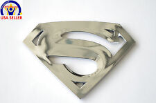 SUPERMAN 3D DC Universe Man of Steel for Laptop, Car Badge Emblem-Silver Chrome