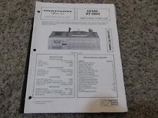 New listing Marantz Cx-580 Rt-3800 Stereo Turntable System Original Service Repair Manual