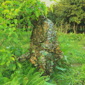 3D Leaf Jungle Forest Wood Camouflage Clothing Hunting Sniper Ghillie Suit