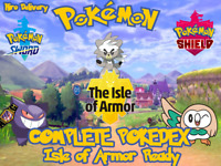 Pokemon Sword and Shield & Isle of Armor & Crown Tundra Galar Pokedex Shiny 6iv