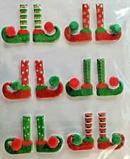 Christmas Elves Elf Legs Shoes North Pole Puffy Stickers