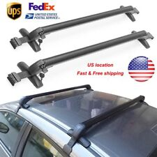 US 2× Universal Car SUV Top Rack Rail Luggage Carrier Baggage Roof Cross Bar Kit