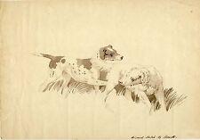 Getuschte Sepiazeichnung - Howitt - ca. 1795