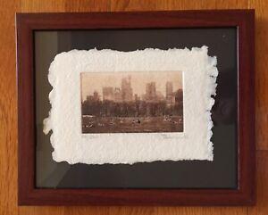 Michael J Leu Signed New York Citiscape Limited Edition Print Central Park