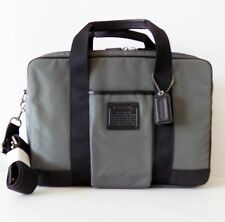 NWT Coach 70421 Voyager Commuter Travel Briefcase / Laptop Carrier  ~ Grey/Black